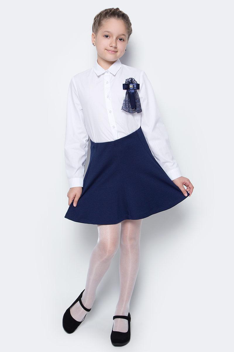 Юбка для девочки Button Blue, цвет: темно-синий. 217BBGS55011000. Размер 128, 8 лет217BBGS55011000Какие юбки для девочеки станут основой школьного гардероба? Те, кто уже носил юбку из плотного трикотажа знают: трикотажные школьные юбки - это удобство и свобода движений. Купить школьную юбку от Button Blue, значит, обеспечить ребенку повседневный комфорт.