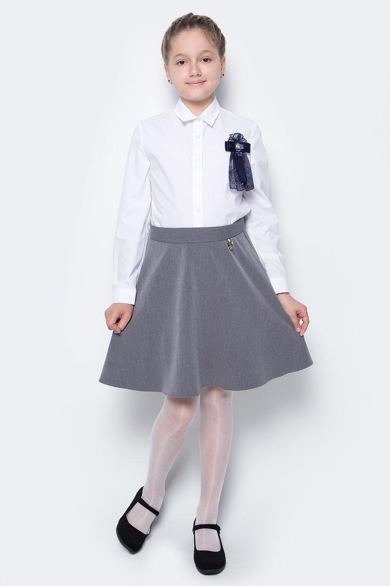 Юбка для девочки Nota Bene, цвет: серый. CWA27002A20. Размер 140CWA27002B20/CWA27002A20Стильная юбка для девочки от Nota Bene выполнена из вискозы и полиэстера с добавлением лайкры. Модель застегивается на застежку-молнию.
