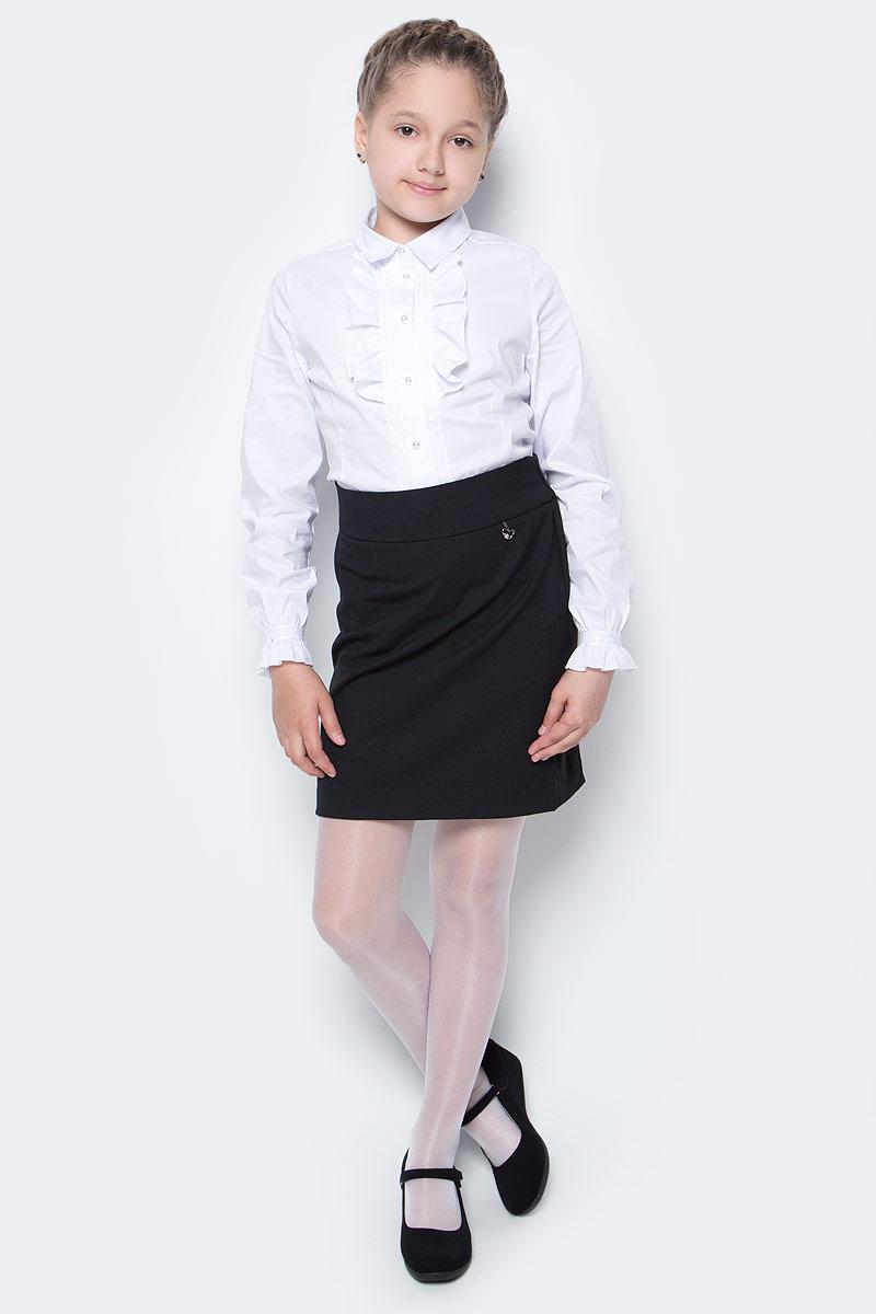 Юбка для девочки Nota Bene, цвет: черный. CWA270P1B21. Размер 164CWA270P1B21/CWA270P1A21Стильная юбка для девочки от Nota Bene выполнена из вискозы и полиэстера с добавлением лайкры. Модель стандартной посадки застегивается на застежку-молнию.