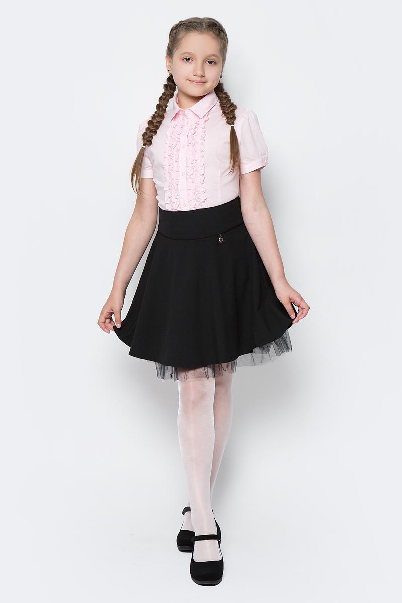 Юбка для девочки Nota Bene, цвет: черный. CWA27004B21. Размер 164CWA27004B21/CWA27004A21Стильная юбка для девочки от Nota Bene выполнена из вискозы и полиэстера с добавлением лайкры. Модель стандартной посадки застегивается на застежку-молнию.