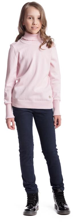 Свитер для девочки Scool, цвет: светло-розовый. 374422. Размер 134, 9 лет374422Свитер для девочки Scool сможет быть одной из базовых вещей детского гардероба. Изделие изготовлено из мягкой и тактильно приятной ткани. Модель с высоким горлом и высокими манжетами с декоративной отделкой дополнена небольшим металлическим украшением. Воротник, низ изделия и манжеты связаны резинкой.
