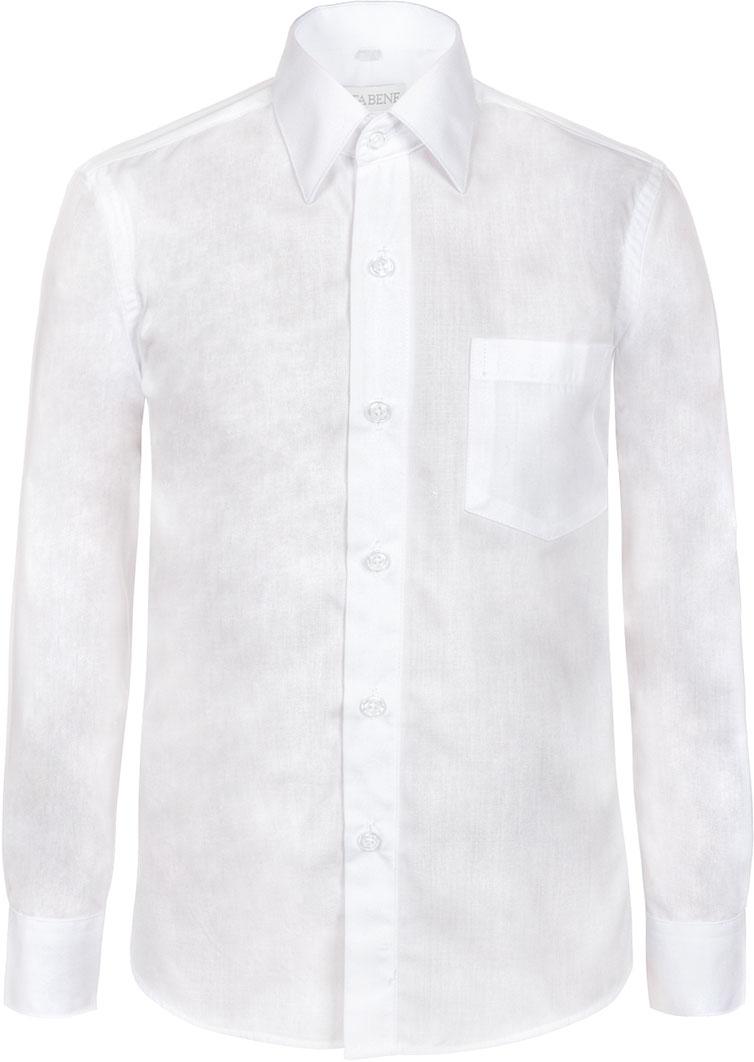 Рубашка для мальчика Nota Bene, цвет: белый. TC2DPRB01. Размер 152TC2DPRA01/TC2DPRB01Рубашка для мальчика Nota Bene приталенного силуэта выполнена из высококачественного хлопкового материала. Модель с классическим отложным воротником и длинными рукавами застегивается на пуговицы, на груди дополнена накладным карманом.