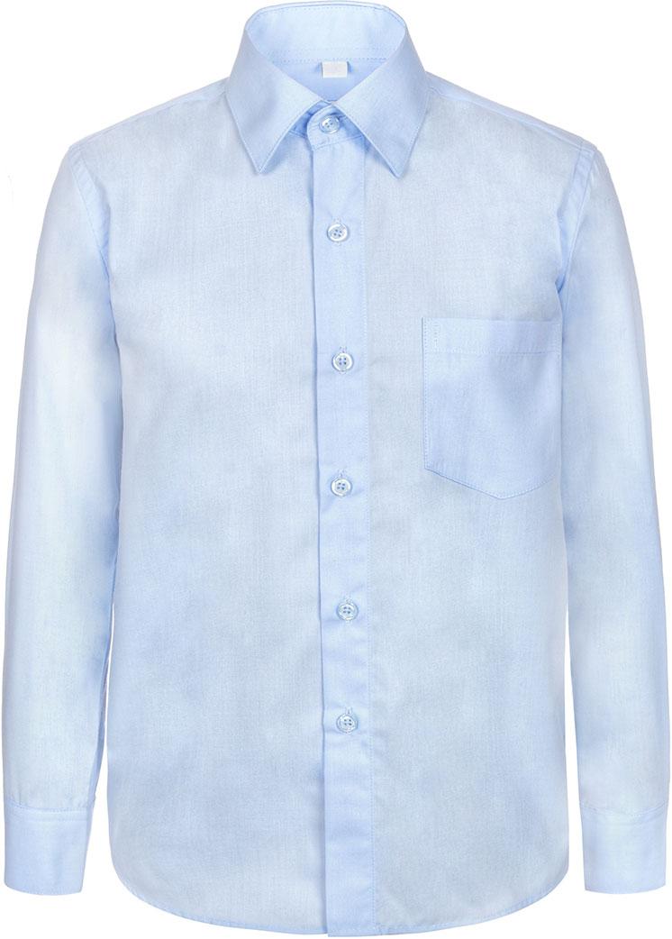 Рубашка для мальчика Nota Bene, цвет: голубой. TC27DB10. Размер 146TC27DA10/TC27DB10Рубашка для мальчика Nota Bene выполнена из высококачественного хлопкового материала. Модель с классическим отложным воротником и длинными рукавами застегивается на пуговицы, на груди дополнена накладным карманом.