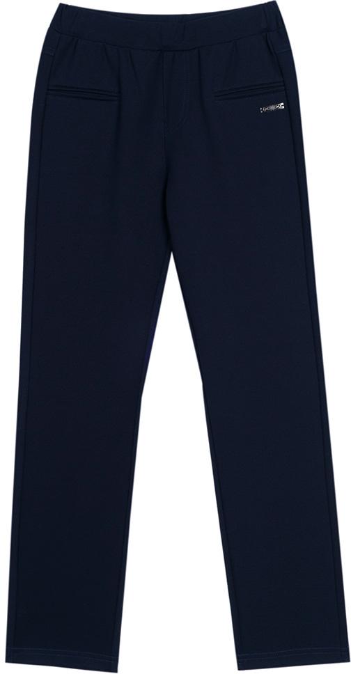 Брюки для девочки Vitacci, цвет: темно-синий. 2173120L-04. Размер 1342173120L-04Классические школьные брюки для девочки выполнены из качественного материала. Просторная модель оригинального кроя на широком поясе.