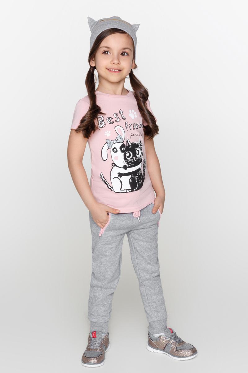 Брюки для девочек Acoola Cyrus, цвет: серый. 20220160110_1900. Размер 10420220160110_1900Трикотажные спортивные брюки с поясом на эластичной резинке и завязках. Модель с прорезными карманами на молнии по бокам и резинками по низу брючин.