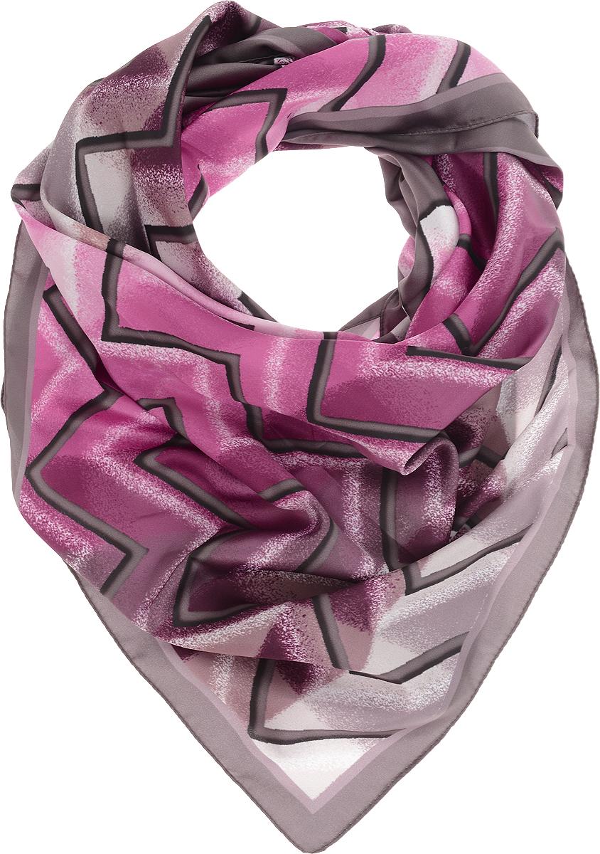 Платок женский Venera , цвет: серый, сиреневый, розовый, белый. 3902627-40. Размер 90 х 90 см3902627-40Платок VENERA светло коричневого цвета 90х90см. с эксклюзивным растительным принтом, изготовлен из полиэстера приятного к телу материала, хорошо драпируется, будет хорошим дополнением вашего образа.