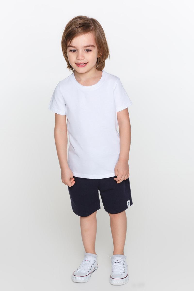 Футболка для мальчиков Acoola Grond, цвет: белый. 20120110074_200. Размер 9220120110074_200Базовая белая футболка с круглым вырезом горловины, выполненная из эластичного трикотажа.
