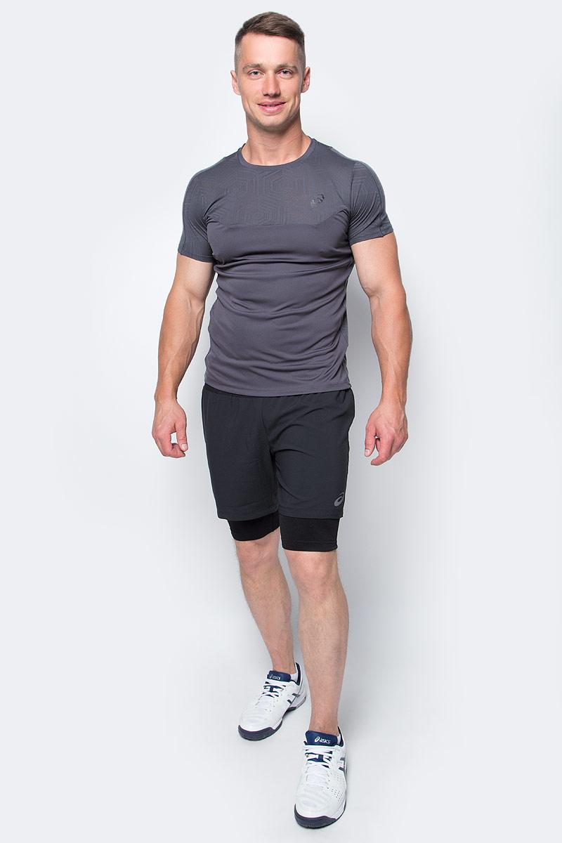 Шорты для бега мужские Asics 2-N-1 Short, цвет: черный. 141245-0904. Размер XL (52/54)141245-0904Мужские шорты Asics 2-N-1 Short, станут отличным дополнением к вашему спортивному гардеробу. Они выполнены из полиэстера, удобно сидят и превосходно отводят влагу от тела, оставляя кожу сухой. Модель дополнена эластичной резинкой на поясе. Эти модные шорты идеально подойдут для бега и других спортивных упражнений. В них вы всегда будете чувствовать себя уверенно и комфортно.