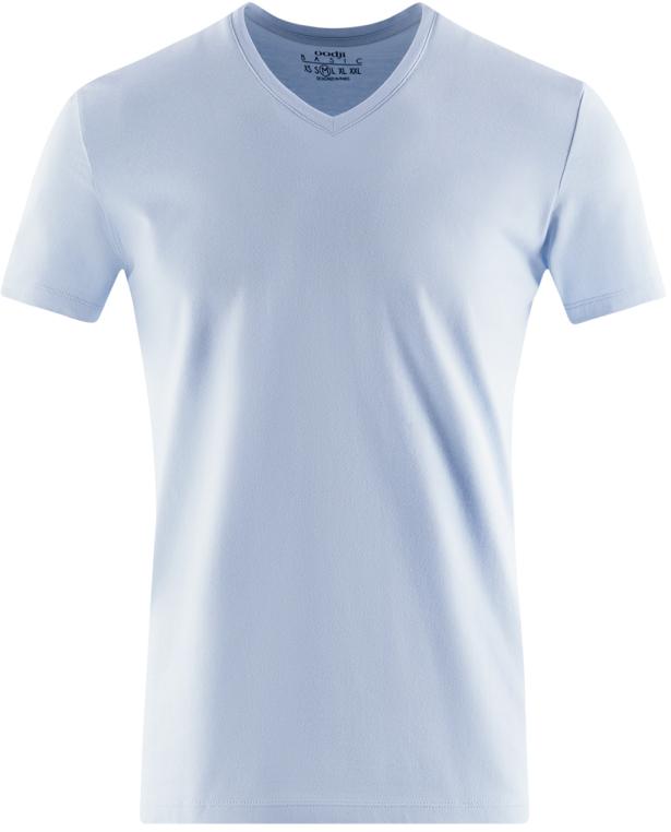 Футболка муж oodji Basic, цвет: голубой, синий, серый, 3 шт. 5B612002T3/46737N/1904N. Размер XXL (58/60)5B612002T3/46737N/1904NФутболка базовая (комплект из 3 штук)