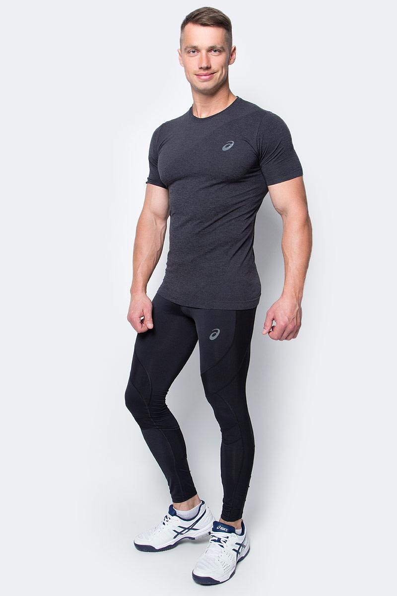 Тайтсы для бега мужские Asics Leg Balance Tight, цвет: черный. 143628-0901. Размер M (48/50)143628-0901Тайтсы для бега мужские Asics Leg Balance Tight изготовлены из высококачественного нейлона и спандекса, они великолепно тянутся. Обтягивающие тайтсы дополнены широкой эластичной резинкой на талии.