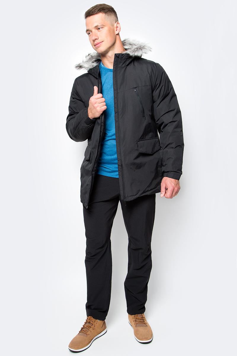 Куртка мужская adidas SDP Jacket Fur, цвет: черный. AP9551. Размер L (52/54)AP9551Эта мужская куртка согреет даже в самые холодные зимние дни. Уютный капюшон с отделкой из искусственного меха. Стильная светоотражающая обработка швов на рукавах. Модель приталенного кроя сшита из прочной ткани. Нагрудные карманы на молнии, прорезные карманы с клапанами на лицевой стороне. Синтетический утеплитель.