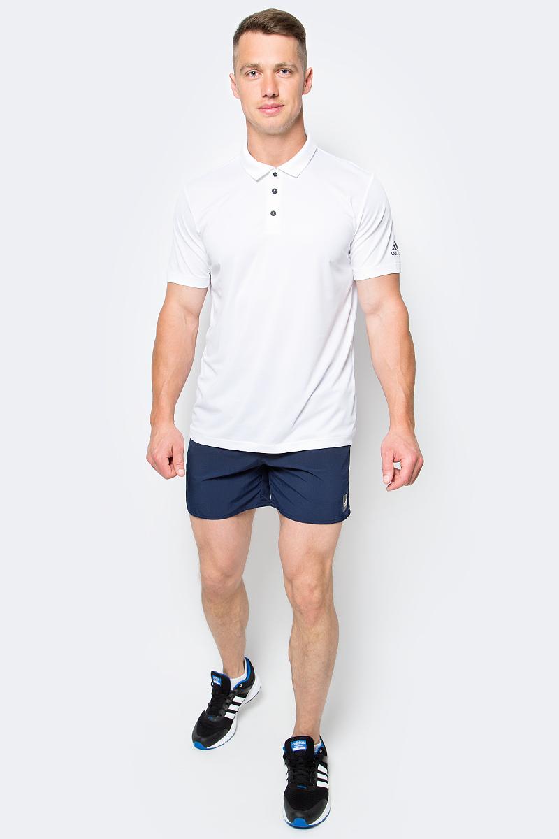 Поло мужское Adidas Unctl Clmchpolo, цвет: белый. BP7729. Размер XXL (60/62)BP7729Теннисное поло Adidas с технологией climachill которая сохранит прохладу даже при самых интенсивных нагрузках.