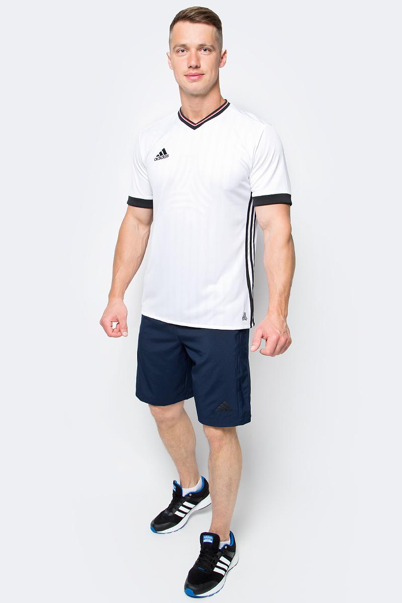 Футболка мужская adidas Tanc Jq Jsy, цвет: белый. AZ9741. Размер L (52/54)AZ9741Мужская футболка adidas Tanc Jq Jsy выполнена из 100% полиэстера. Прекрасно подходит для интенсивных тренировок.