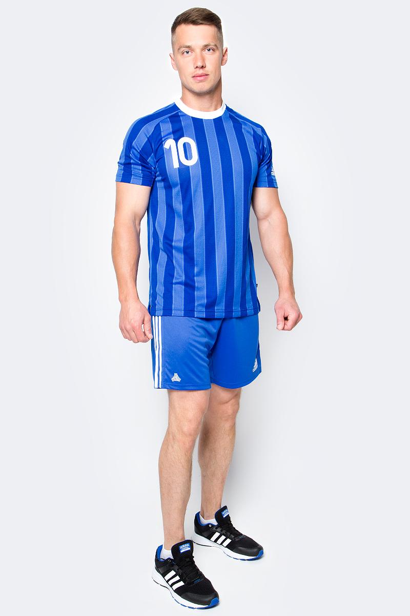 Шорты футбольные мужские adidas Tanc 3S Shorts, цвет: голубой. BK3761. Размер XS (40/42)BK3761Шорты футбольные мужские adidas Tanc 3S Shorts выполнены из 100% полиэстера. Прекрасно подходят для интенсивных тренировок.