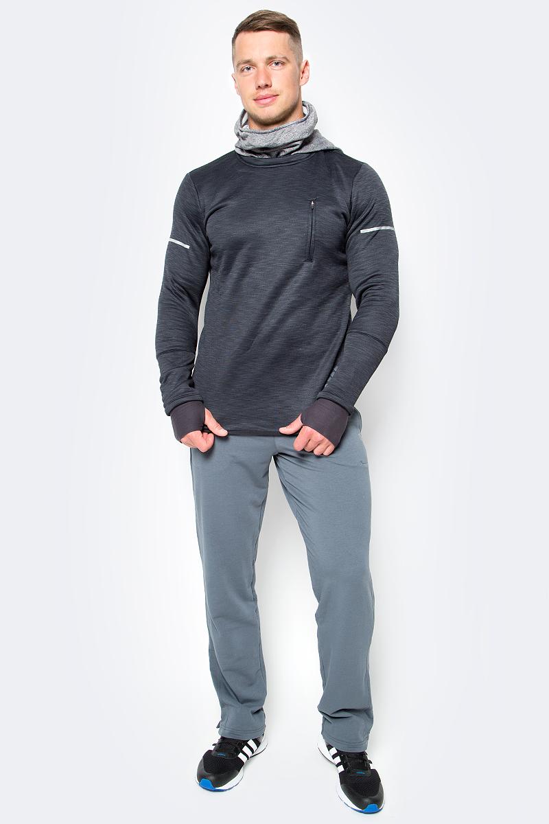 Толстовка для бега мужская adidas Sq Cht Hoodie M, цвет: черный. AP9727. Размер L (52/54)AP9727Мужская толстовка для бега adidas Sq Cht Hoodie M выполнена из полиэстера и эластана. В этой беговой толстовке вы сможете комфортно тренироваться даже при отрицательной температуре. Утеплитель climaheat™ со свойствами натурального меха быстро сохнет и надежно сохраняет тепло без риска перегрева. Мягкий и эластичный флис сохраняет полную свободу движений во время бега, а регулируемая защитная маска и манжеты с отверстиями для больших пальцев обеспечивают дополнительный комфорт. Светоотражающие детали для безопасности в темное время суток.