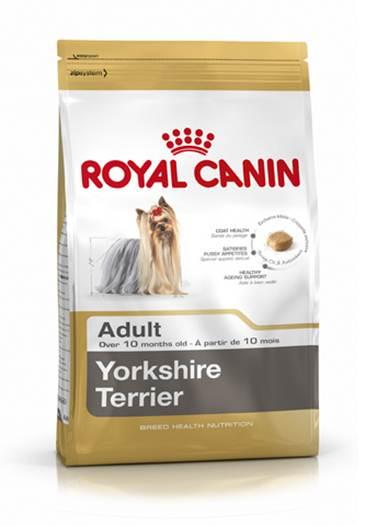 Корм сухой Royal Canin Yorkshire Terrier Adult, для собак породы йоркширский терьер в возрасте от 10 месяцев, 7,5 кг140075Сухой корм Royal Canin Yorkshire Terrier Adult - это полнорационный сбалансированный сухой корм для собак породы Йоркширский терьер и собак других мелких пород. Особенности породы: Шерсть. Тонкая шерсть, напоминающая по структуре волосы человека, и чувствительная кожа нуждаются в особой защите. Чрезвычайно тонкая и длинная (до 37 см), ниспадающая по бокам шерсть йоркширского терьера постоянно растет. Изумительно блестящая и мягкая, эта шерсть по структуре подобна человеческим волосам, не имеет подшерстка и не линяет. Сниженный аппетит и разборчивость в питании. У йоркширского терьера обоняние развито слабее, чем у более крупных собак, а вследствие особой близости к владельцу собаки этой породы зачастую становятся весьма разборчивыми в питании. Йоркширского терьера заинтересует только по-настоящему вкусный корм. Долголетие. Средняя продолжительность жизни йоркширского терьера - 15 лет, а это означает, что представители данной породы нуждаются в активной...