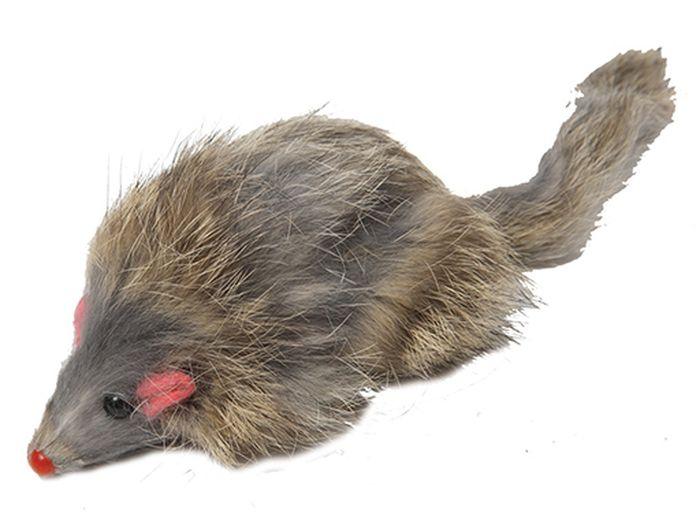 Игрушка для животных Каскад Мышь, цветная, с длинным мехом, 8 см27759264Мышь цветная длинный мех 8см