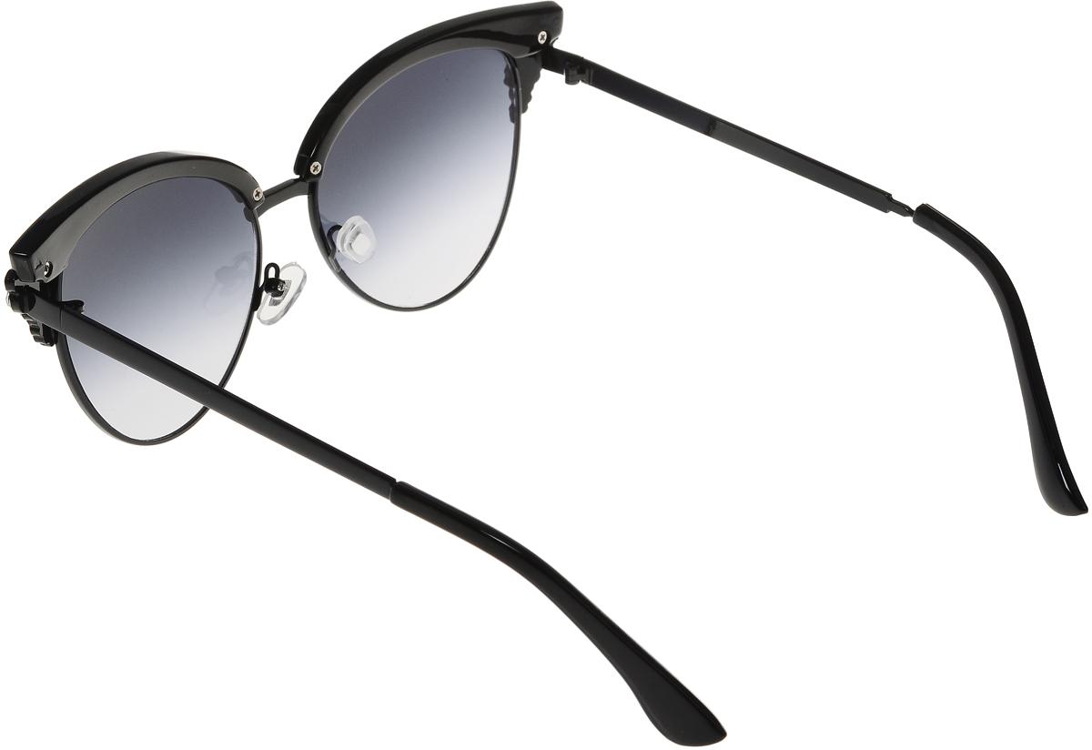Очки солнцезащитные женские Vittorio Richi, цвет: черный. OC1899c2/17fOC1899c2/17fСолнцезащитные очки Vittorio Richi выполнены из высококачественного пластика и металла, декорированы стразами. Пластик используемый при изготовлении линз не искажает изображение, не подвержен нагреванию и вредному воздействию солнечных лучей. Оправа очков легкая, прилегающей формы и поэтому обеспечивает максимальный комфорт. Такие очки защитят глаза от ультрафиолетовых лучей, подчеркнут вашу индивидуальность и сделают ваш образ завершенным.
