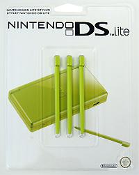 Стилус для Nintendo DS Lite зеленого цвета (комплект из 3 шт.)1811666Комплект из трех оригинальных стилусов для Nintendo DS Lite.
