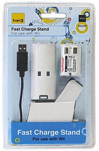 Станция быстрой зарядки + аккумулятор 1400 мАч для игровой системы WiiNW857Станция быстрой зарядки + аккумулятор 1400 мАч для игровой системы Wii.