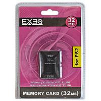 Карта памяти для PlayStation 2 EXEQ 32 МбEQ-PS2-32MBКарта памяти предназначена для использования только с игровой консолью PS2. Пожалуйста, помните, что данная карта не может использоваться с программным обеспечением формата PSX. При помощи карты памяти можно сохранять и загружать игровые данные. По своему усмотрению вы можете удалять эти данные или копировать на другую карту памяти.Внимание! Чтобы предотвратить потерю данных, избегайте многократного нажатия на консоли переключателя: MAIN POWER и кнопки RESET. Подробную инструкцию по использованию карты памяти смотрите в Руководстве по эксплуатации консоли PS2. Вместимость этого продукта ограничена. Если сохранение данных становится невозможным вследствие отсутствия свободного места, то удалите неиспользуемые данные или используйте новую карту памяти.