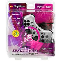 Джойстик PC/PS3 DVTech JS83 Shock StreamACSWT1Хороший джойстик должен быть функциональным, удобным, иметь привлекательный дизайн, а еще лучше, если он предназначен не только для компьютера, но и для игровой приставки. Вашему вниманию предлагается один из лучших джойстиков компании DVTech - JS83 Shock Stream, который соответствует требованиям самых взыскательных игроков. Джойстик обладает рядом дополнительных функций: встроенный вентилятор, ускоренный, и замедленный повтор действия кнопок.