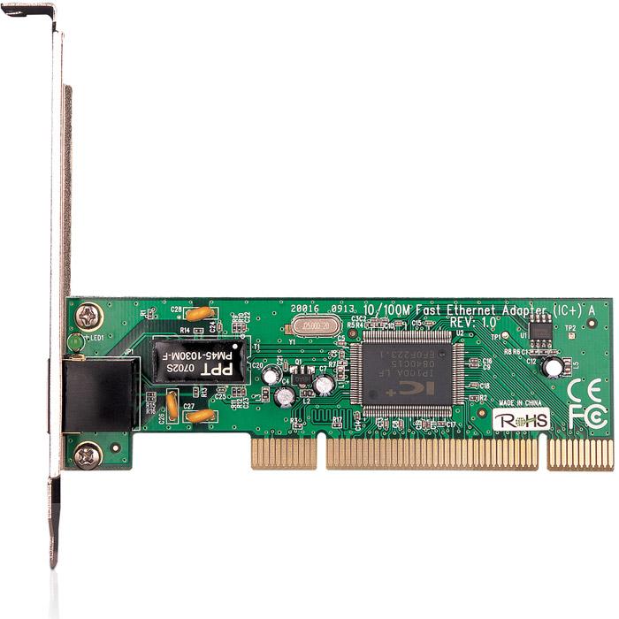 TP-Link TF-3200TF-3200Сетевой адаптер TP-Link TF-3200 является интегрированным и наиболее выгодным по соотношению цена-качество адаптером Fast Ethernet, который работает с 32-битными системами, оснащен контроллером PCI и полностью поддерживает стандарты IEEE 802.3 10Base-T, IEEE 802.3u 100Base-TX и стандарт управления потоком IEEE 802.3x Flow control в полнодуплексном режиме. Модель TF-3200, будучи экономически выгодным решением, практически не имеет ограничений в своем применении. Так, Вы легко сможете увеличить скорость передачи данных в вашей сети с 10 Мбит/с до 100 Мбит/с. Адаптер поддерживает передачу на обеих этих скоростях в полу- и полнодуплексном режимах. Благодаря технологии автоматического определения, устройство самостоятельно настраивается на нужную скорость передачи данных. Адаптер поддерживает большинство современных операционных систем. Поддержка ACPI, управление питанием PCI Поддержка функции управления потоком Flow control (IEEE 802.3x) Автоматическая...