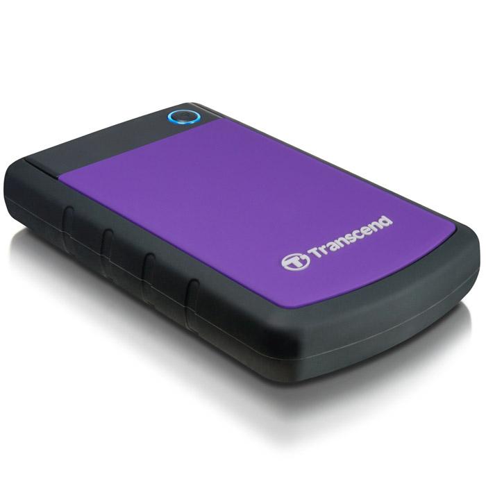 Transcend StoreJet 25H3 1TB, Purple внешний жесткий диск (TS1TSJ25H3P)TS1TSJ25H3PПортативный жесткий диск StoreJet 25H3 - это надежное устройство с отличными рабочими характеристиками USB 3.0, емкостью для хранения до 2 ТБ, что позволит хранить около 200 DVD фильмов, и 3-ступенчатой антиударной системой защиты, отвечающей жестким требованиям испытаний U.S. на падение. Устройство StoreJet 25H3 обладает высокой скоростью передачи информации до 90MB/сек., что делает его идеальным выбором для любителей высокой скорости. Передача изображений DVD фильмов возможна за менее, чем 1 минуту! Устройство StoreJet 25H3 отличает прекрасный дизайн - антискользящий резиновый корпус фиолетового или синего цвета, а также высокая степень защиты благодаря укрепленному внешнему кейсу и внутренней системе подвески, что предохраняет устройство от ударов. Также, устройство снабжено кнопкой для удобного быстрого автоматического резервного копирования в одно нажатие, что сделает процесс синхронизации данных и резервного копирования максимально быстрым и удобным. ...