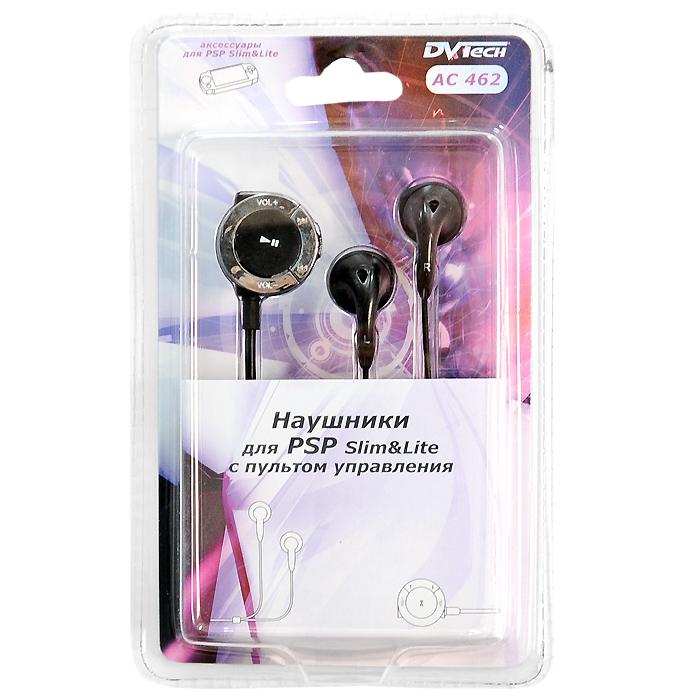 Наушники для PSP Slim DVTech AC 462 с пультом управления (цвет: черный)AC 462Наушники предназначены для использования с портативной системой PSP Slim&Lite.Наушники комплектуются компактным пультом управления с клипсой для крепления на одежду.