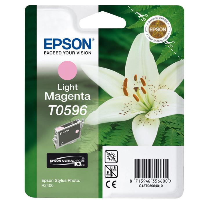 Epson C13T05964010 Light MagentaC13T05964010Картридж Epson T059 с цветными чернилами для струйной печати. Емкость: 13 мл