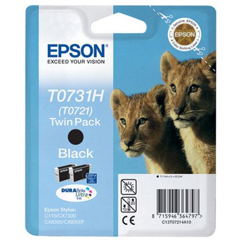 Epson C13T10414A10 Black Twin PackC13T10414A10Набор из двух картриджей Epson повышенной емкости с черными чернилами. Емкость: 11.1 мл