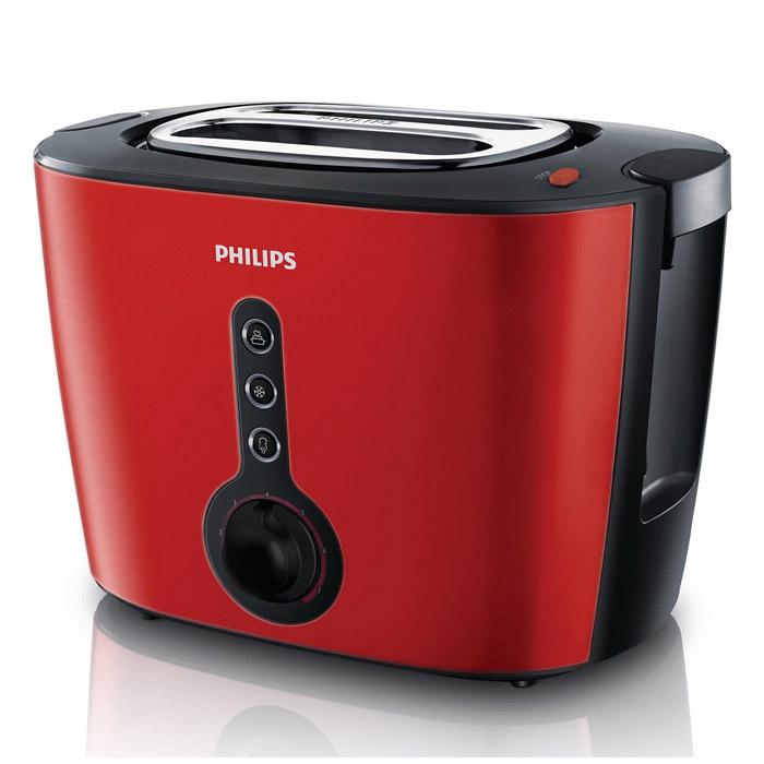 Philips HD 2636/40 тостерHD2636/40Тостер Philips HD 2636/40 имеет широкие слоты для любых ломтиков, толстых или тонких. Регулируемая ширина слотов с автоцентрированием обеспечивает идеальное поджаривание. Корпус тостера термоизолированный, поэтому всегда будет оставаться прохладным на ощупь. Функция разморозки позволяет размораживать и поджаривать хлеб за один прием, а кнопка разогрева подогревает остывший хлеб, или подрумянивает уже поджаренный. Система автоматического отключения помогает при возможном застревании ломтика хлеба. Кнопка отмены позволяет в любой момент остановить приготовление тостов. Для максимально удобного приготовления хлеба имеется также подставка для подогревания, съемный поддон для крошек, а также специальный подъемник для безопасного извлечения небольших хлебцев.