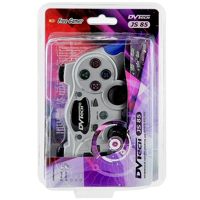 Беспроводной джойстик DVTech JS85 Free Gamer для PC/PS1/PS2 JS 85