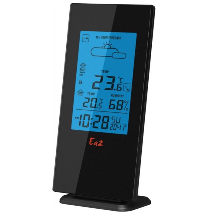 Ea2 BL503BL503Метеостанция Ea2 BL503 с беспроводным внешним датчиком и функцией прогноза погоды.Барометрический прогноз погодыСохранение температурных значенийКалендарьВыносной датчик: беспроводной, радиус приема 30 мМаксимальное число датчиков: 3Индикация уровня зарядаНастенное креплениеЗвуковая индикацияПитание: 3 х ААА (основной блок), 2 х ААА (датчик)