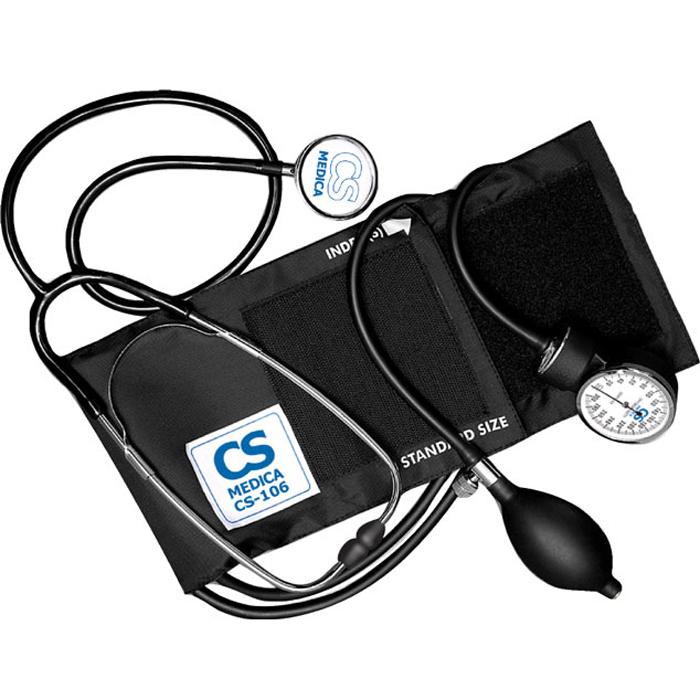 CS Меdica CS-106 тонометр с фонендоскопом000 000 00052CS-106 - классический механический тонометр для использования в медицинских учреждениях и домашних условиях.