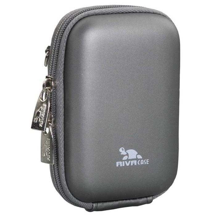 Riva 7022 (PU) Digital Case, Dark Grey чехол для фотокамеры2495Стильный чехол Riva 7022 (PU) Digital Case подходит для большинства популярных моделей компактных фотокамер. Изготовлен из высококачественного, ударопрочного, водонепроницаемого материала EVA.Двойная застежка молния для удобного доступа к устройствуВнутренняя защита из плотного и мягкого нейлонаПредусмотрена возможность крепления на поясном ремне