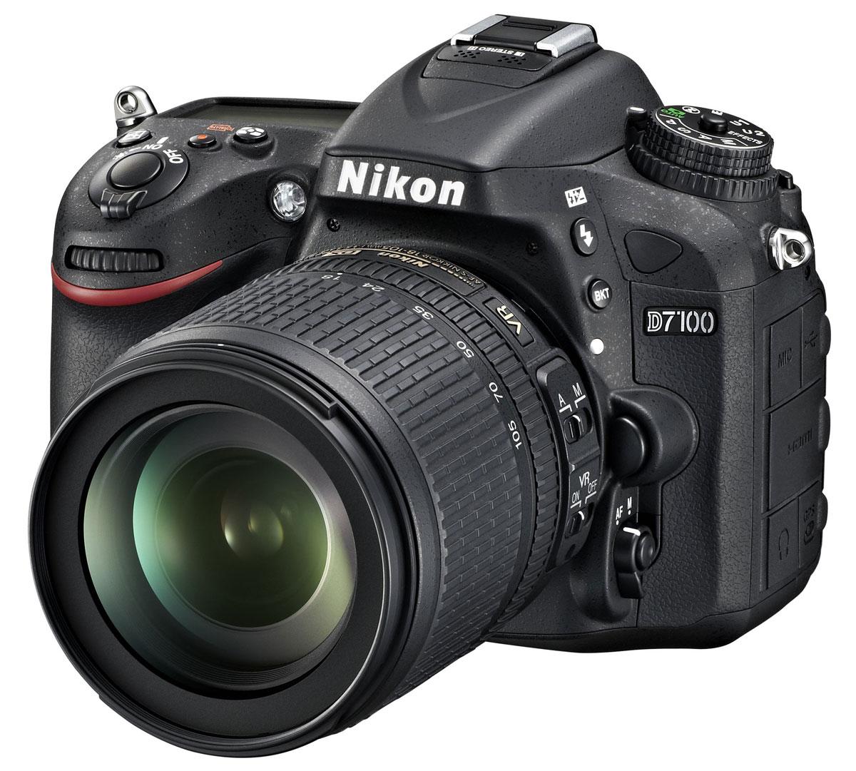 Nikon D7100 Kit 18-105 VR цифровая зеркальная фотокамераVBA360K001Производительная 24,1-мегапиксельная фотокамера Nikon D7100 формата DX позволит любителям фотосъемки создавать незабываемые динамичные фотографии. Эта многофункциональная, чрезвычайно легкая и компактная модель, заключенная в прочный корпус, позволяет расширить возможности фотосъемки. Благодаря 51-точечной системе АФ фотокамеры Nikon D7100 Вы можете воплощать в жизнь свое творческое видение на профессиональном уровне и при этом получать превосходные фотографии с высоким уровнем детализации, а также четкие и резкие видеоролики в формате Full HD. Расширенные возможности для получения изображений превосходного качества: Фотокамера Nikon D7100 оснащена множеством различных функций, благодаря которым перед Вами открываются неограниченные возможности для съемки, а также достигается невиданное ранее качество изображений. Мощная КМОП-матрица формата DX с разрешением 24,1 мегапикселя гарантирует получение резких и детализированных изображений. За счет того,...