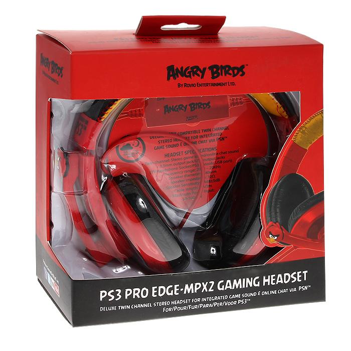 Игровая гарнитура Angry Birds PS3 Pro EDGE-MPX2PS3 Pro EDGE-MPX2Стильная геймерская двухканальная гарнитура с микрофоном для чата по лицензии компании Rovio Entertainment выполнена в стиле знаменитой на весь мир игры Angry Birds.