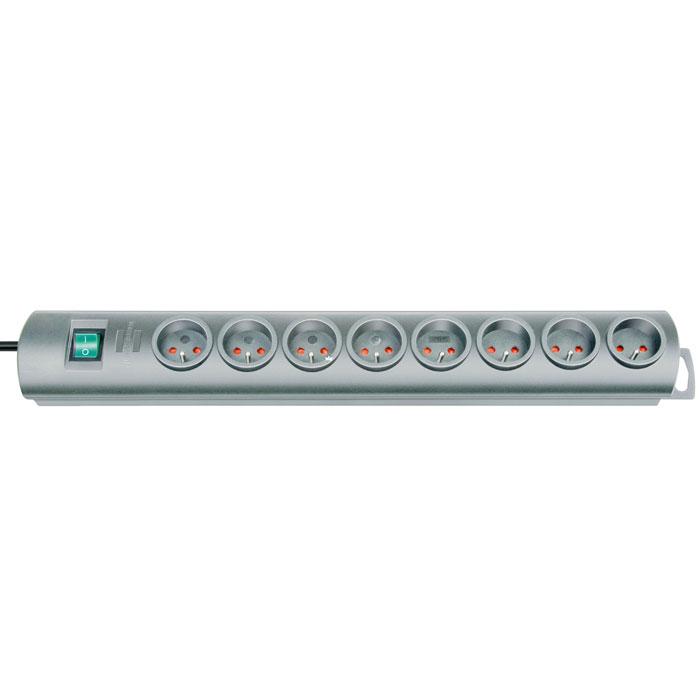 Brennenstuhl Primera-Line удлинитель на 8 розеток, Silver1153390128Удлинитель на 8 розеток Brennenstuhl Primera-Line (1 153 300 128) с возможностью выводить кабель с разных сторон устройства. Кабельный зажим для хранения излишков кабеля Удобное расстояние между розетками Возможность настенного монтажа Розетки защищены от детей Двухполюсный выключатель Тип кабеля: H05VV-F 3G1,5