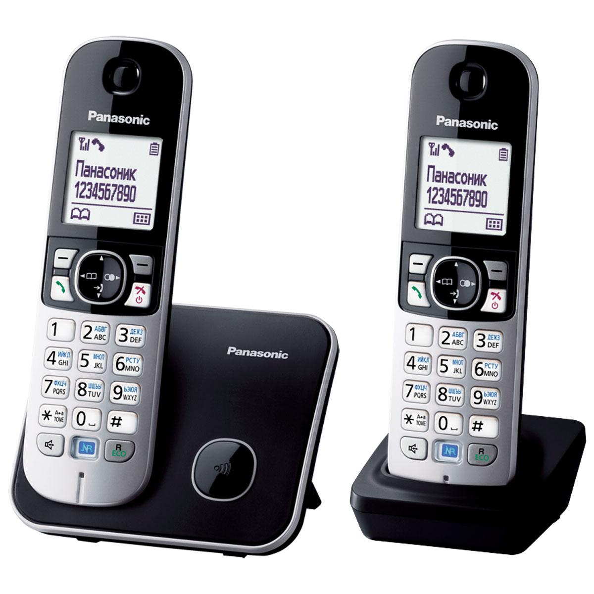 Panasonic KX-TG6812 RUB DECT телефонKX-TG6812RUBDECT телефон Panasonic KX-TG6812RUB. Функция радионяня - вы можете осуществлять акустический контроль помещения, например, детской из других комнат в доме - одна трубка устанавливается рядом с ребенком, а вторая - у родителей. Функция резервного питания - в случае отключения электричества телефон может работать (на базе) от аккумулятора трубки. Panasonic KX-TG6812RUB имеет в комплекте дополнительную трубку. Блокировка клавиатуры Русифицированное меню Часы, дата на дисплее Будильник с повторным сигналом и установкой по дням недели Повторный набор
