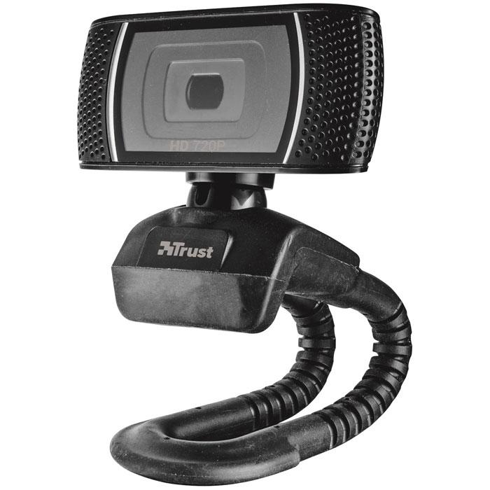 Trust Trino HD Video веб-камера18679Веб-камера Trust Trino HD 720p с кнопкой фотографирования для работы в MSN/Live Messenger, Skype и YouTube.