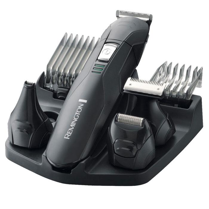 Remington PG6030 набор для стрижкиPG6030Комплект для стрижки Remington PG6030 Edge позволит вам создать свой неповторимый стиль. Несколько насадок, входящих в его комплект, обеспечат должный уход за растительностью на лице. Они позволят подкорректировать форму усов, бороды и бакенбард, а также удалить растительность в носу и ушах. Направляющие расчески-насадки позволят вам выбрать длину стрижки, а бритвенная насадка обеспечит идеально гладкое бритье. Remington PG 6030 способен работать в беспроводном режиме до 40 минут. А в случае, если батарея начнет садиться индикатор зарядки даст вам об этом знать. Также прибор очень легко очищается благодаря моющимся насадкам.