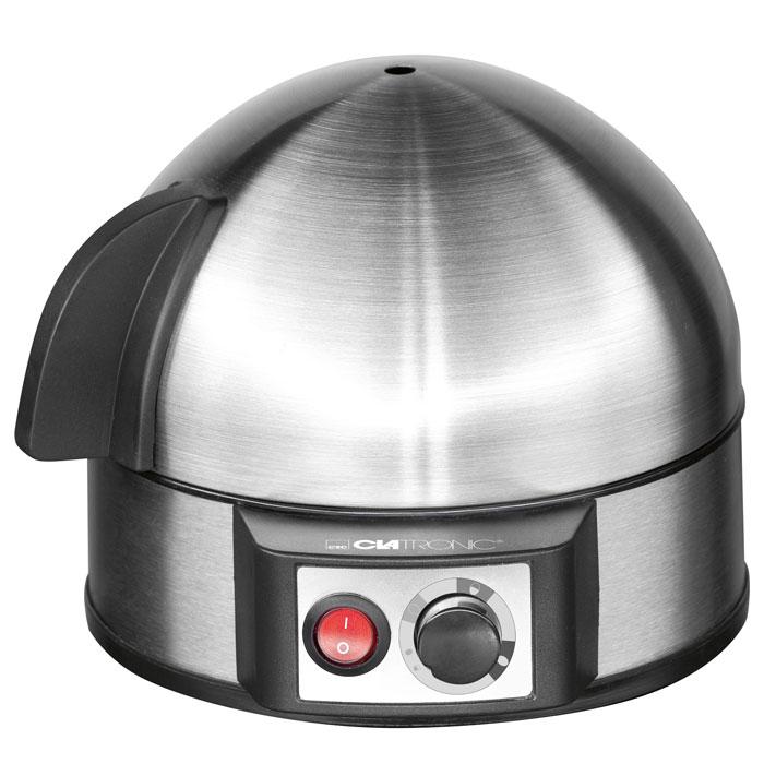 Clatronic EK 3321, Grey Metallic яйцеваркаEK 3321Clatronic EK 3321 - это электрическая яйцеварка на 7 яиц, которые готовятся на пару, при этом используется минимальное количество воды. 3 степени готовности яиц Регулируемая степень приготовления Электронное управление Съемная подставка для яиц Измерительный стаканчик Контрольная лампочка Акустический сигнал (зуммер) Питание от сети 220В