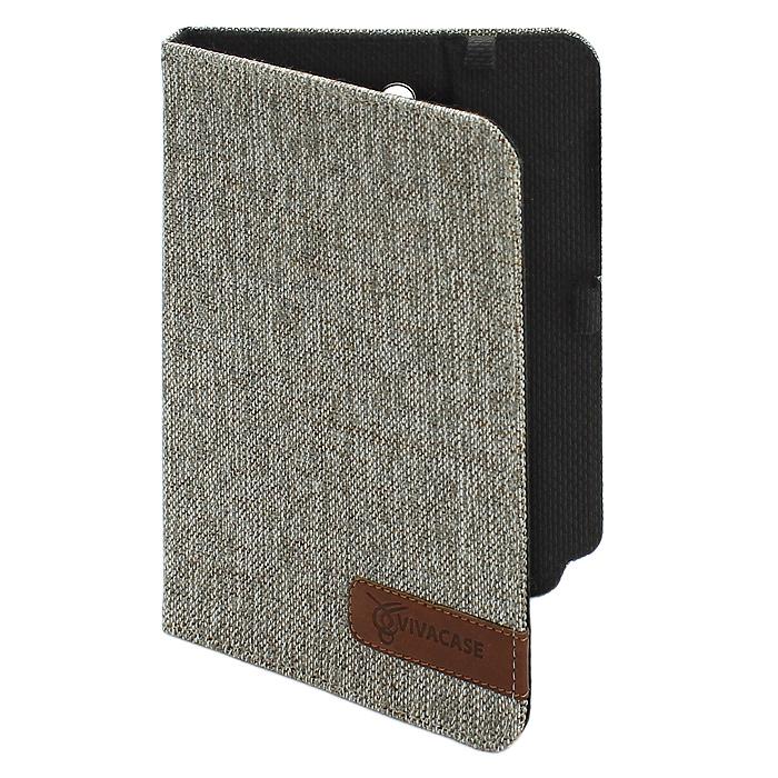 Vivacase жаккардовая чехол-обложка для Samsung Galaxy Note 8 (N5100/5110), BeigeVSS-SNJ008-beЧехол-обложка Vivacase изготовлен из ткани стильной расцветки и не только защищает планшет от царапин и повреждений, но и служит элементом, дополняющим стиль его владельца.Внутри чехла, отделанного мягкой подкладкой, Samsung Galaxy Note 8 плотно крепится при помощи магнитных уголков, которые не только фиксируют планшет, но и удерживают крышку закрытой. Задняя сторона обложки имеет центральный сгиб, с помощью которого чехол можно использовать как подставку для комфортного чтения или просмотра видео. Установить планшет можно под двумя углами, уперев его в один из плотных ярлычков на передней части обложки.Все кнопки и разъемы планшета остаются открытыми, доступ к экрану ничем не ограничен. Вам не придется вынимать планшет из чехла даже для того, чтобы сделать снимок основной камерой – специально для нее в обложке проделано аккуратное отверстие.