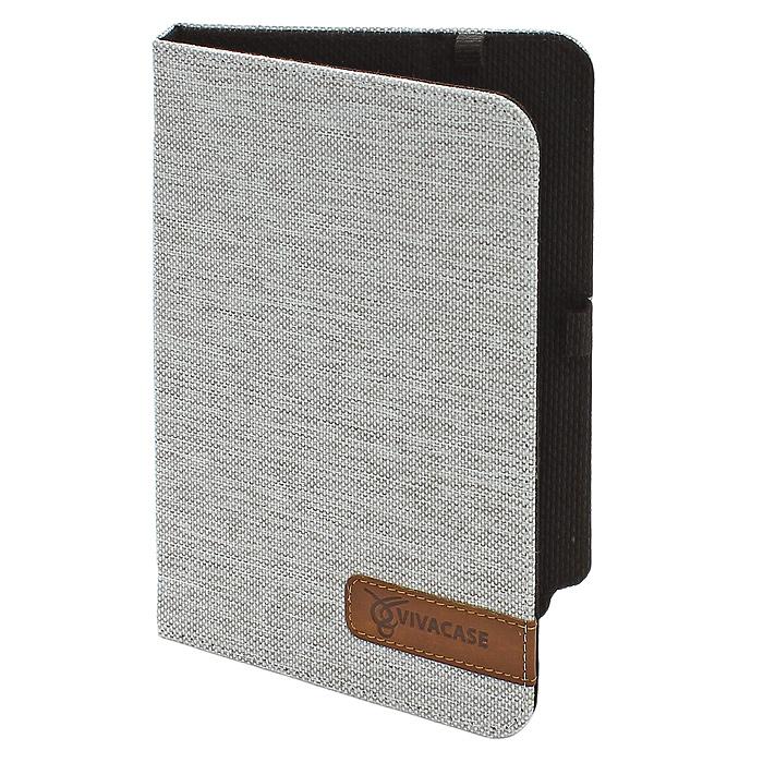 Vivacase жаккардовая чехол-обложка для Samsung Galaxy Note 8 (N5100/5110), WhiteVSS-SNJ008-wЧехол-обложка Vivacase изготовлен из ткани стильной расцветки и не только защищает планшет от царапин и повреждений, но и служит элементом, дополняющим стиль его владельца. Внутри чехла, отделанного мягкой подкладкой, Samsung Galaxy Note 8 плотно крепится при помощи магнитных уголков, которые не только фиксируют планшет, но и удерживают крышку закрытой. Задняя сторона обложки имеет центральный сгиб, с помощью которого чехол можно использовать как подставку для комфортного чтения или просмотра видео. Установить планшет можно под двумя углами, уперев его в один из плотных ярлычков на передней части обложки. Все кнопки и разъемы планшета остаются открытыми, доступ к экрану ничем не ограничен. Вам не придется вынимать планшет из чехла даже для того, чтобы сделать снимок основной камерой – специально для нее в обложке проделано аккуратное отверстие.