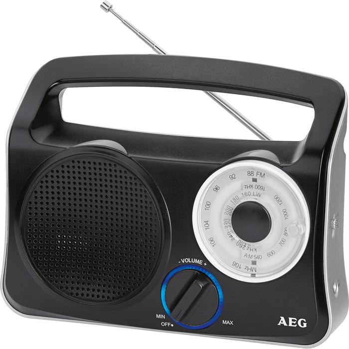 AEG TR 4131, Black Silver портативный радиоприемник TR 4131 weis-silber