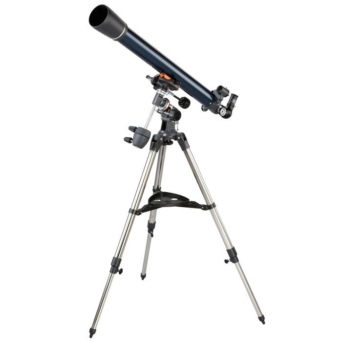 Celestron AstroMaster 70 EQ телескоп-рефракторC21062Телескоп Celestron AstroMaster 70 EQ - это мощный оптический инструмент, обладающий качественной оптикой, надежностью и простотой в эксплуатации. Устройство дает яркие, контрастные изображения тысяч объектов ночного неба, делая занятия астрономией интересными и доступными каждому. Телескоп быстро подготавливается к работе, не требуя инструментов для сборки, и практически не нуждается в техническом обслуживании. Телескопы серии AstroMaster оснащены переработанными искателями StarPointer, упрощающими наведение на цель, быстросъемными приспособлениями типа «ласточкин хвост» для крепления оптической трубы, удобными полочками для аксессуаров и легкими, предварительно собранными стальными треногами. Телескопы имеют ручное управление, позволяющее легко и быстро находить небесные объекты и следить за ними. Интересуют наблюдения наземных объектов? Оптика с прямым изображением идеально подходит для этих целей.