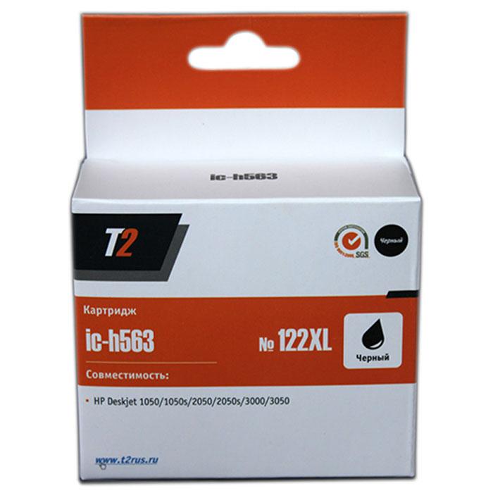 T2 IC-H563 картридж для HP Deskjet 1050/1050s/2050/2050s/3000/3050 (№122XL), BlackIC-H563Картридж повышенной емкости T2 IC-H563 с черными чернилами для струйных принтеров и МФУ HP. Картридж собран из японских комплектующих и протестирован по стандарту ISO. Совместимость: HP Deskjet 1050/1050s/2050/2050s/3000/3050