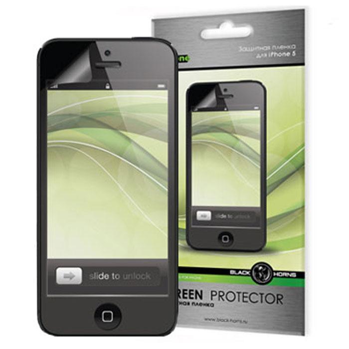 Black Horns защитная пленка для iPhone 5 (BH-iPh4019)BH-iPh4019Защитная глянцевая пленка Black Horns BH-iPh4019 для экрана iPhone 5. Пленка изготовлена из материала высокого качества и обеспечивает защиту экрана от пыли, отпечатков пальцев, царапин и потертостей.