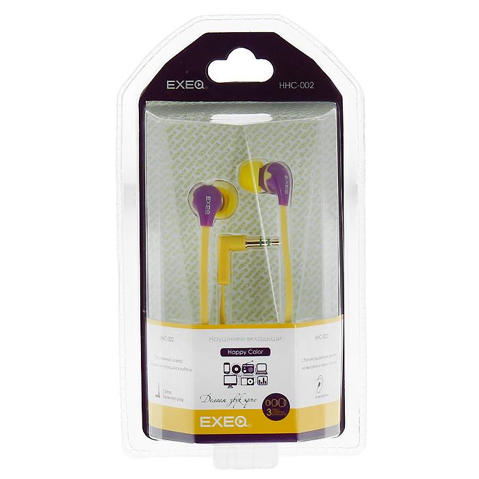 EXEQ HHC-002, Magenta Yellow наушникиHHC-002 LAEXEQ HHC-002 - эффектный дизайн наушников EXEQ HHC-002 из серии Happy Color с яркими цветовыми сочетаниями никого не оставит равнодушным. Маленькие, но громкие излучатели этих наушников-вкладышей обеспечивают плотное прилегание и чистый звук с мощными басами. Кабель длиной 130 см позволяет не только с удобством слушать музыку от плеера или телефона, но так же подключать наушники к Вашему ПК, а плоская конструкция кабеля не позволит ему запутаться. Прочный L-образный штекер с позолоченным 3.5 мм джеком позволит комфортно подключить наушники EXEQ HHC-002 ко многим портативным устройствам. Дизайн в цвете: Happy Color - серия наушников Exeq с самыми яркими и сочными цветовыми решениями. Одним из ярких представителей серии являются наушники EXEQ HHC-002. Модель имеет оригинальный дизайн, основным отличием которого является удачная комбинация самых ярких и модных цветов. В ассортименте 4 варианта самых оригинальных цветовых комбинаций – выбирайте то, что соответствует вашему...